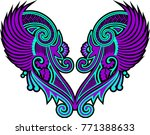 beautiful folk art  | Shutterstock .eps vector #771388633