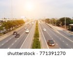 blurry of various car in large... | Shutterstock . vector #771391270
