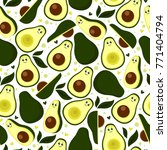fresh seamless pattern with... | Shutterstock .eps vector #771404794