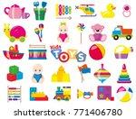 kids toys. a set of children's... | Shutterstock .eps vector #771406780
