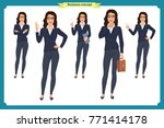 set of  businesswoman character ... | Shutterstock .eps vector #771414178