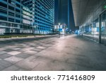 empty brick road nearby office... | Shutterstock . vector #771416809