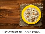 muesli with nuts. muesli on a... | Shutterstock . vector #771419008
