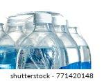 closeup of a pack of 1 5 liter... | Shutterstock . vector #771420148