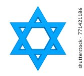 star of david isolated. 3d... | Shutterstock . vector #771421186