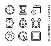 simple set of time icon | Shutterstock .eps vector #771424666