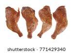 smoked chicken legs | Shutterstock . vector #771429340