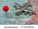 pin in islas canarias on map ... | Shutterstock . vector #771432010