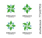 organic logo design vector | Shutterstock .eps vector #771437953
