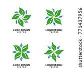 abstract organic shape logo... | Shutterstock .eps vector #771437956