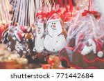 gingerbread hearts at german... | Shutterstock . vector #771442684