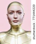 female character   artificial... | Shutterstock . vector #771444220
