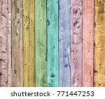 colorful wooden plank background | Shutterstock . vector #771447253