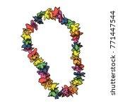 necklace of flowers vector... | Shutterstock .eps vector #771447544