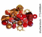 an exotic mix of gold   red... | Shutterstock . vector #771448864