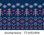 knitted seamless pattern for... | Shutterstock .eps vector #771452494