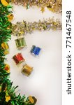 party drums and garland | Shutterstock . vector #771467548