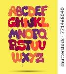 original bubble graffiti font... | Shutterstock .eps vector #771468040