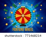 wheel of fortune  lucky icon... | Shutterstock .eps vector #771468214