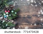 close up  top shot of silver... | Shutterstock . vector #771473428