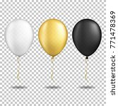 set of realistic transparent... | Shutterstock .eps vector #771478369