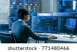 in the system control room... | Shutterstock . vector #771480466