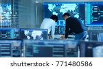 in the system control room... | Shutterstock . vector #771480586