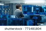 in the system control room... | Shutterstock . vector #771481804