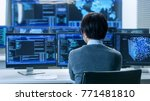 in the system control room... | Shutterstock . vector #771481810