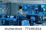 in the system control room it... | Shutterstock . vector #771481816