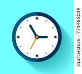 clock icon in flat style  timer ... | Shutterstock .eps vector #771483019