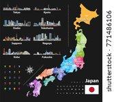 vector illustration of japanese ... | Shutterstock .eps vector #771486106