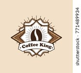 coffee labels and badges. retro ... | Shutterstock .eps vector #771489934