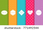 set of cute bright seamless... | Shutterstock .eps vector #771492544