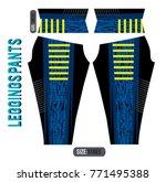 leggings pants fashion vector... | Shutterstock .eps vector #771495388