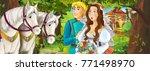 cartoon scene with young...   Shutterstock . vector #771498970