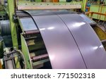 Small photo of Slitter steel rolled sheet processing in coil center
