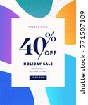 40  off special offer discount. ... | Shutterstock .eps vector #771507109