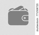 credit card in wallet. vector... | Shutterstock .eps vector #771508720