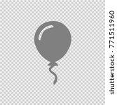 baloon vector icon eps 10. | Shutterstock .eps vector #771511960