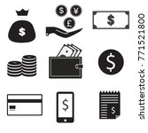 9 vector icon set. dollar bag ... | Shutterstock .eps vector #771521800