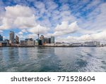 auckland skyline from the sea ... | Shutterstock . vector #771528604