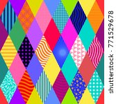colorful carnival background.... | Shutterstock .eps vector #771529678