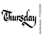 thursday handwriting script... | Shutterstock .eps vector #771531094
