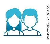 couple faceless avatar | Shutterstock .eps vector #771535723