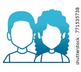 couple faceless avatar | Shutterstock .eps vector #771535738