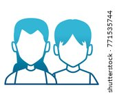 couple faceless avatar | Shutterstock .eps vector #771535744