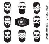 set of vector various bearded... | Shutterstock .eps vector #771537034