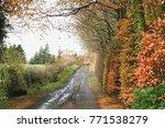 farmyard road in the fall | Shutterstock . vector #771538279
