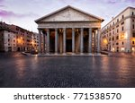 beautiful view in rome.... | Shutterstock . vector #771538570